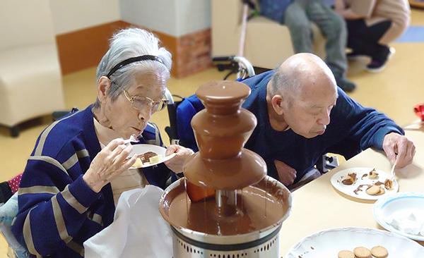 チョコレートフォンデュ開催!