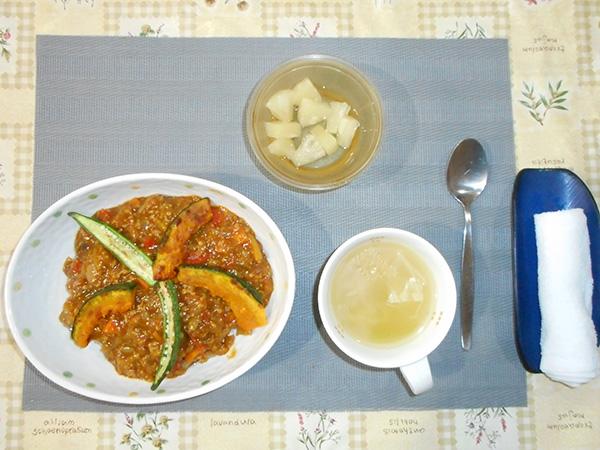 夏野菜カレーを作りました。